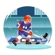 Hockey Player Running Character Stadium Background - GraphicRiver Item for Sale
