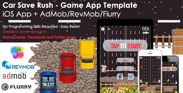 Car Save Rush - iOS Full Game App Template + Ads - CodeCanyon Item for Sale