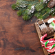 Christmas decor box and fir tree - PhotoDune Item for Sale