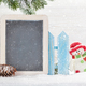 Christmas snowman toy and chalkboard - PhotoDune Item for Sale