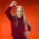 Portrait of angry teen girl on studio background - PhotoDune Item for Sale