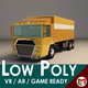 Low-Poly Cartoon Cargo Truck - 3DOcean Item for Sale