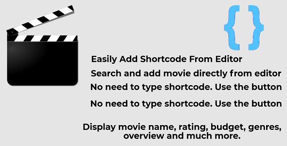 IMDB Movie Shortcode WordPress Plugin Using TMDB API            Nulled