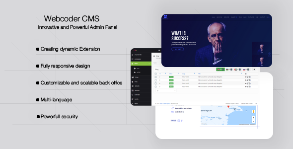 WebCoder - Fully Customizable CMS            Nulled