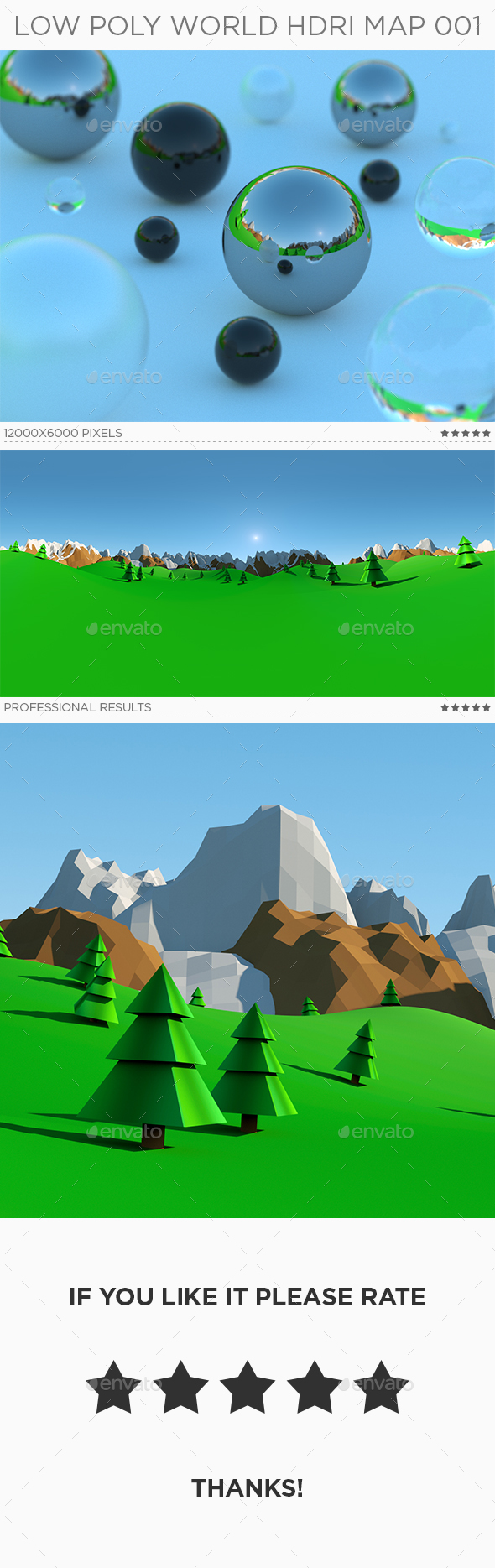 Low Poly World HDRi Map 001 - 3DOcean Item for Sale