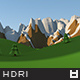 Low Poly World HDRi Map 002