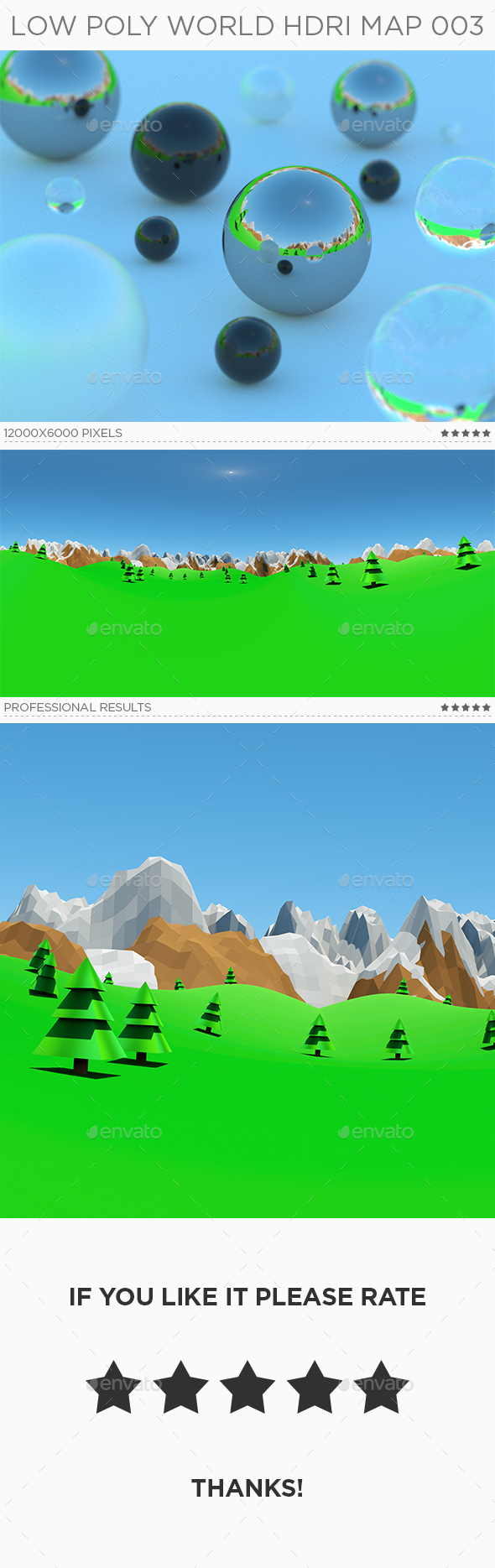 Low Poly World HDRi Map 003 - 3DOcean Item for Sale