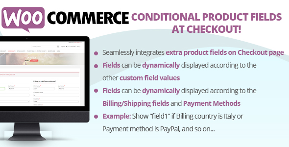 WooCommerce Conditional Product Fields at Checkout - CodeCanyon Item for Sale