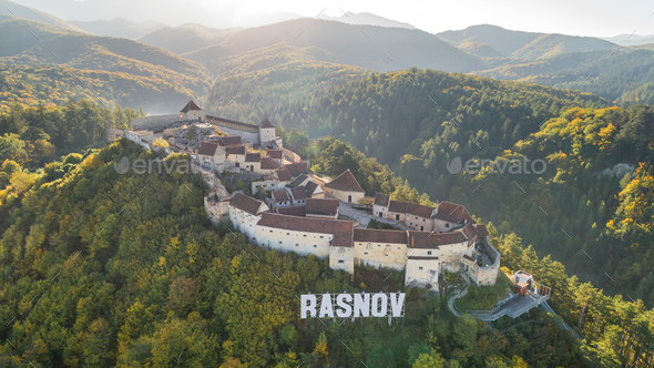 Rasnov Fortress Romania - Stock Photo - Images