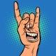 Smile Emotion Hand Rock Gesture - GraphicRiver Item for Sale