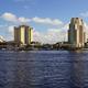 Marine Boat Ship Canal Downtown Urban Metro Skyline Tampa Bay Florida - PhotoDune Item for Sale
