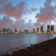 Strom Clearing Sunset Downtown City Skyline Waterfront Miami Fl - PhotoDune Item for Sale