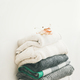 Pile of warm winter sweaters and blankets - PhotoDune Item for Sale