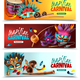 Brasil Carnaval Banners Set - GraphicRiver Item for Sale