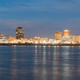 Horizontal composition covering the Mississippi River waterfront at Baton Rouge - PhotoDune Item for Sale
