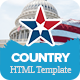 Country - Political HTML Template