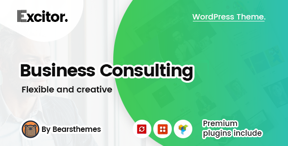 Excitor | Business Consulting WordPress Themes - Business Corporate