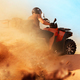 Atv riding in sand quarry, dust clouds, quad bike - PhotoDune Item for Sale