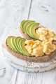 Sandwiches with avocado and scrambled eggs - PhotoDune Item for Sale