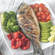 Grilled sea bream fish with vegetables - PhotoDune Item for Sale