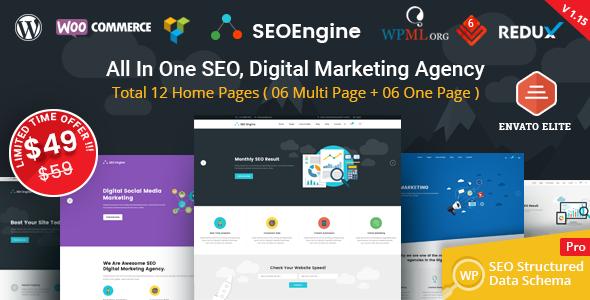 SEO Engine - SEO & Digital Marketing Agency WordPress Theme - Marketing Corporate