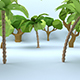 Low Poly Cartoon Trees Pack - 3DOcean Item for Sale