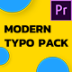 Modern Typography - Essential Graphics | Mogrt - VideoHive Item for Sale