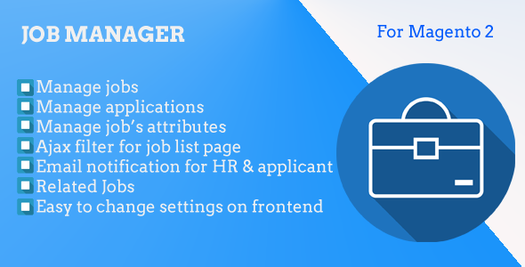 Magento 2 Job Manager            Nulled