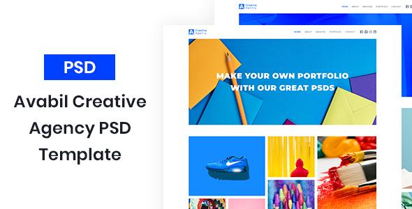 Avabil - Creative Agency PSD Template - Creative PSD Templates