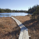 Wooden walkway leads to small trout lake in northern Minnesota - PhotoDune Item for Sale