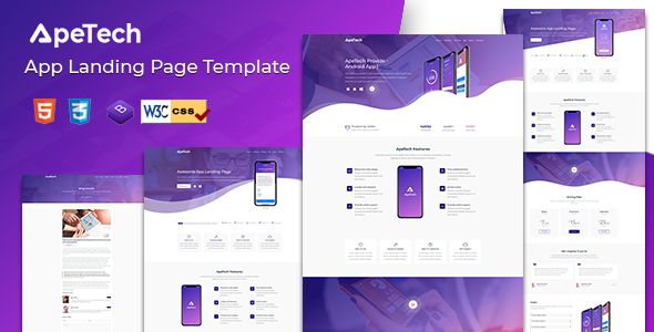 Apetech - App Landing Page Free Download | Nulled