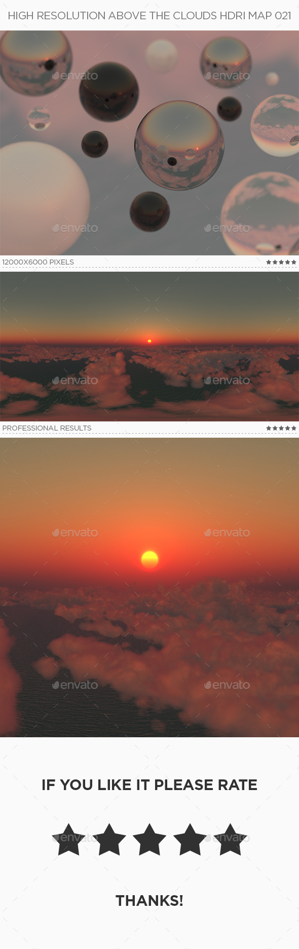 High Resolution Above The Clouds HDRi Map 021 - 3DOcean Item for Sale