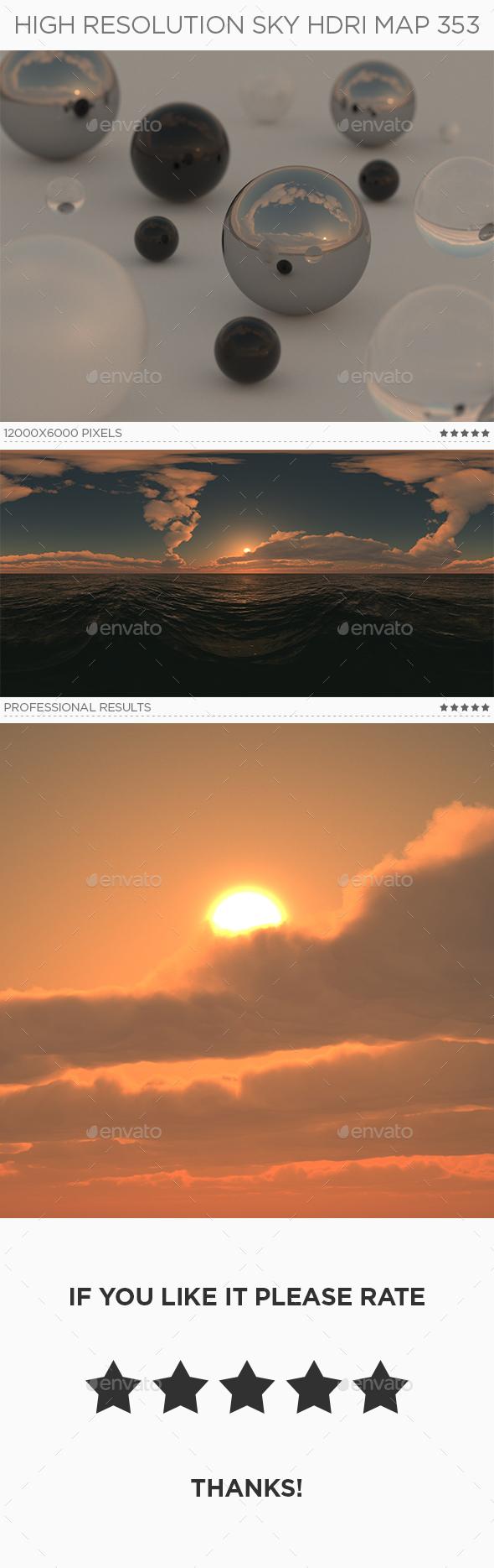 High Resolution Sky HDRi Map 353 - 3DOcean Item for Sale