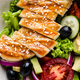 Grilled chicken breast with fresh vegetable salad - PhotoDune Item for Sale
