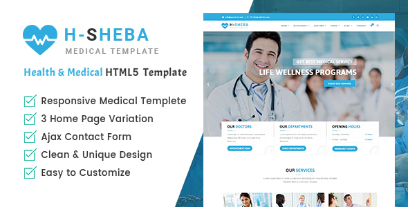 Health Sheba Hospital - Health and Medical HTML Template Free Download | Nulled