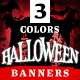 Halloween Sale Web Banner Set - 3 Color Variations - GraphicRiver Item for Sale