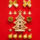 Christmas decoration on red background - PhotoDune Item for Sale