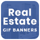 Real Estate Animated Gif Banner Set - GraphicRiver Item for Sale