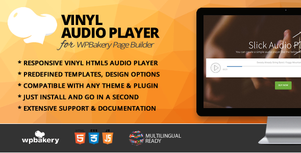 Vinyl Audio Player Addon for WPBakery Page Builder            Nulled
