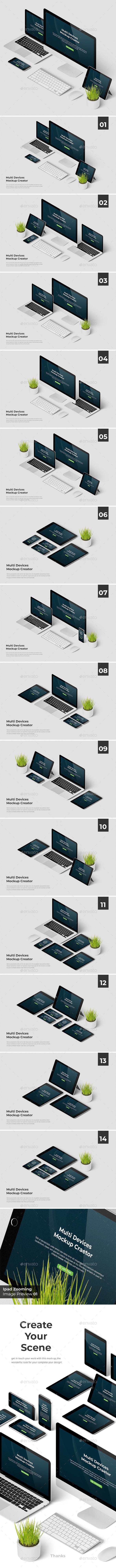 Multi Devices Responsive Web Mockup - Product Mock-Ups Graphics