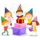 A Group Of Children Celebrating - GraphicRiver Item for Sale