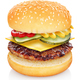 Flying cheeseburger isolated - PhotoDune Item for Sale