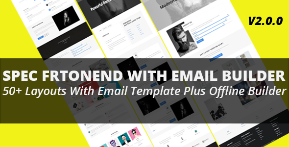 Spec - Multipurpose Frontend Theme With Email  Builder - Business Corporate