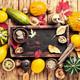 Autumn seasonal background with pumpkins - PhotoDune Item for Sale