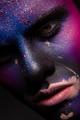 Art man make up, multicolor paint. Halloween - PhotoDune Item for Sale