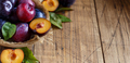 Fresh plums with leaves - PhotoDune Item for Sale