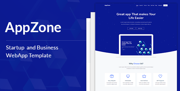 AppZone - Startups Business & WebApp Template Free Download | Nulled