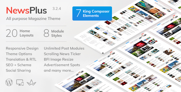 NewsPlus - News and Magazine WordPress theme