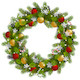 Vector Christmas Fir Wreath with Garland - GraphicRiver Item for Sale
