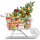 Vector Supermarket Sleigh with Christmas Decorations - GraphicRiver Item for Sale